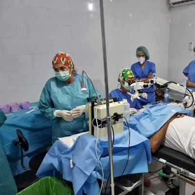 Brigada de especialistas  españoles y argentinos participaron en una misión humanitaria en la ciudad de nuadibu, para realizar operaciones oftalmológicas no lucrativas.