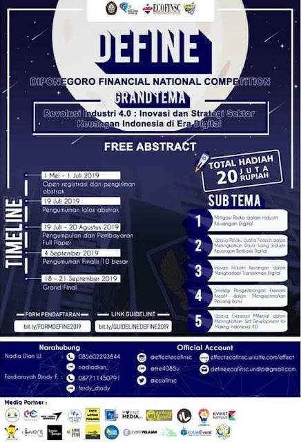Lomba Scale Paper Financial National 2019 Mahasiswa Terbaru