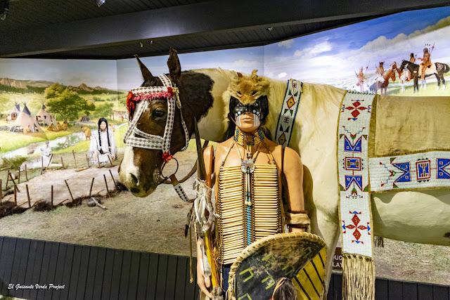 Representación guerrero Lakota, Akta Lakota Museum - Chamberlain, Dakota del Sur