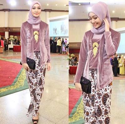 model baju batik kebaya muslim