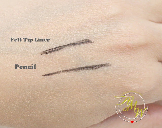 a swatch photo of  NYX Two Timer Kohl Pencil Liner and Felt Tip Liner in jet black