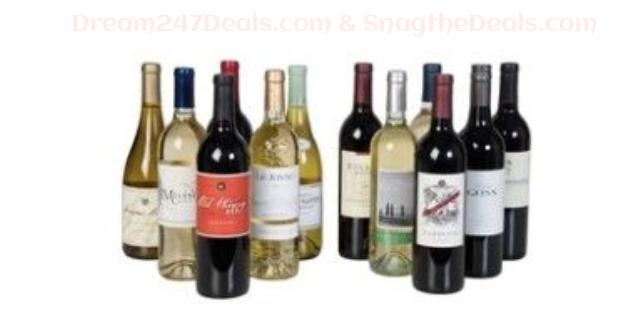 WINEONSALE Wine Case Special - 12 Bottle Wine Pack Deal FREE Shipping