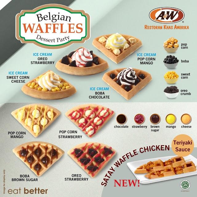 A&W Promo Belgian Waffles Dessert Party Harga Mulai dari Rp 9.500