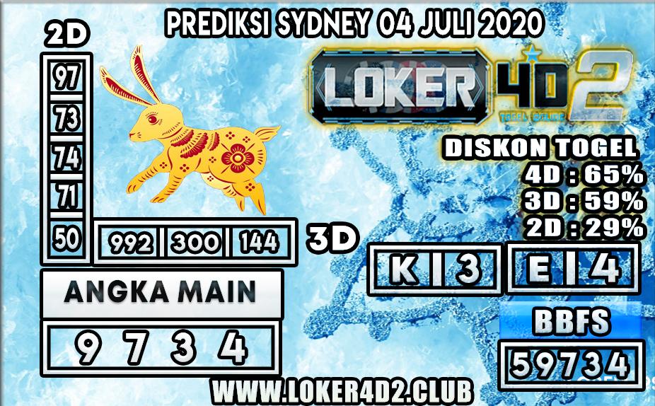 PREDIKSI TOGEL SYDNEY LOKER4D2 04 JULI 2020