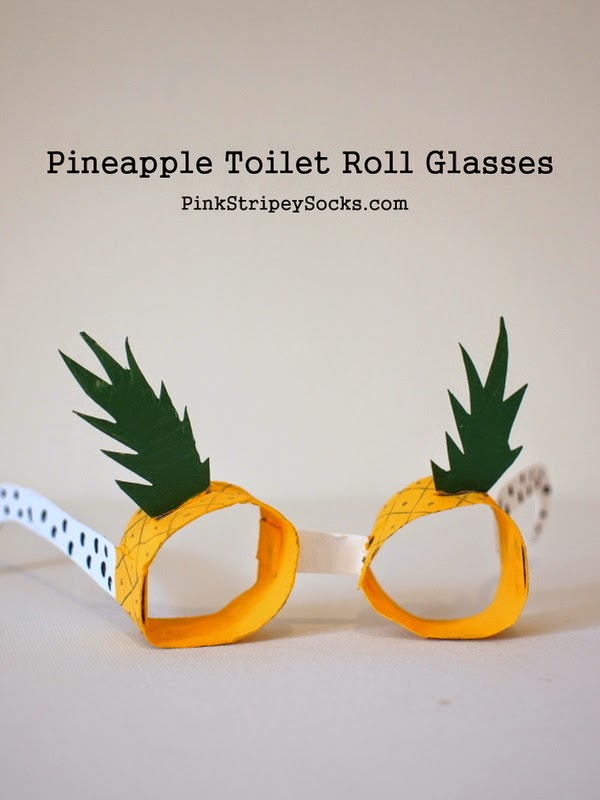 how to make pineapple toilet roll glasses