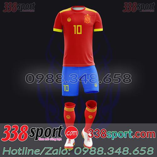 Áo Đội Tuyển Tây Ban Nha Đặt May Theo Yêu Cầu - Mã TBN 04