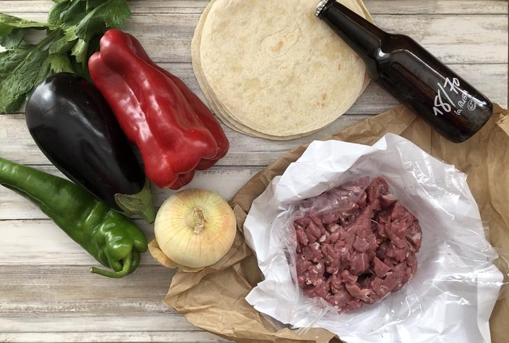 Wraps de cordero con verduras