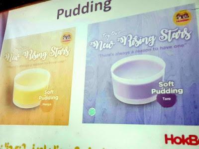 2 Varian soft pudding  ala Hokben rasa Mango dan Taro.