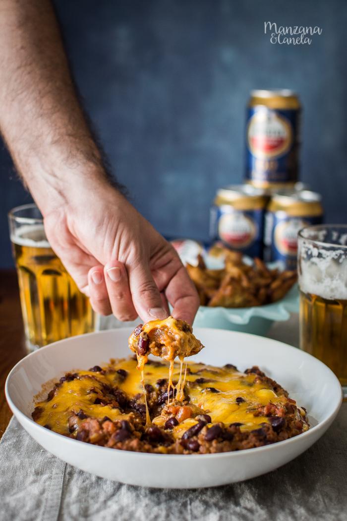 Chili con carne y totopos caseros. Receta para disfrutar con Amstel 0'0