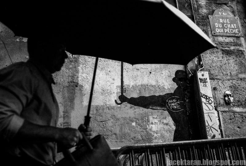 paris, street photo, jacek taran, umbrela