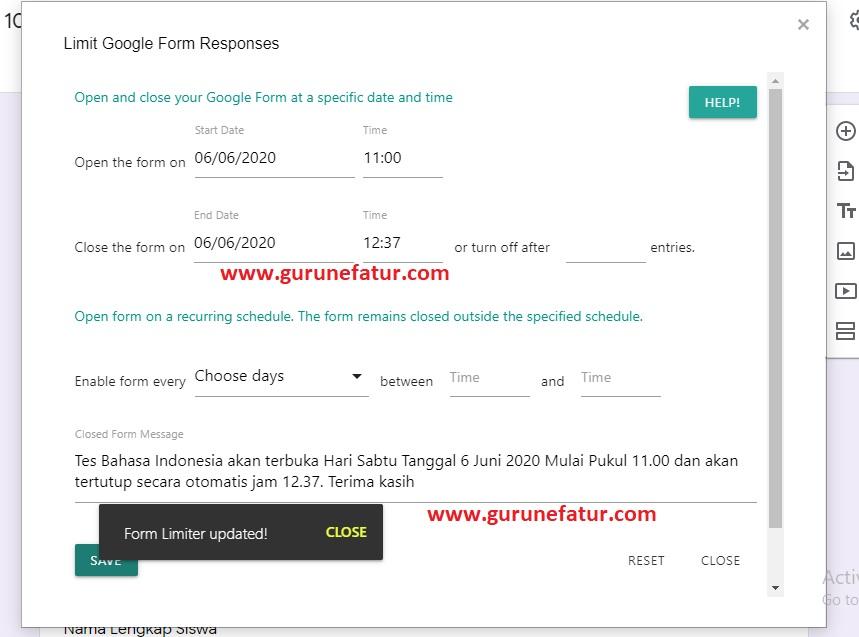 Cara Menambah Email Notifikasi Google Form