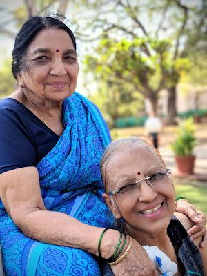 Mummy with nani(grandmother)