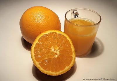 mujer y deporte 40 zumos fruta