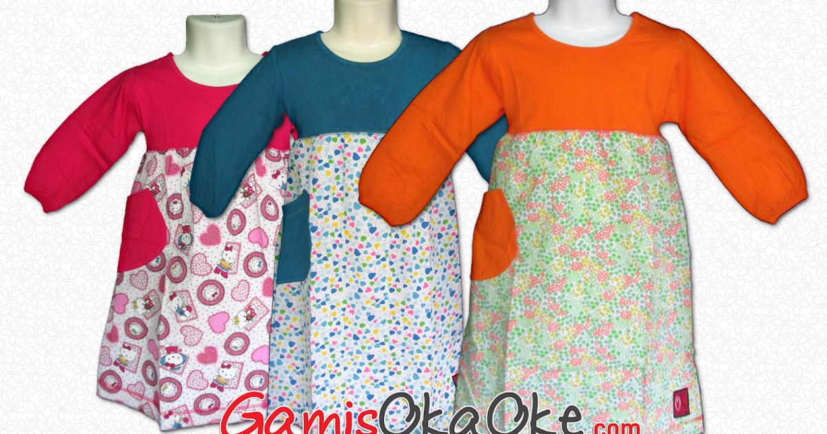 Tempat grosir baju muslim anak perempuan murah Baju gamis anak kaos