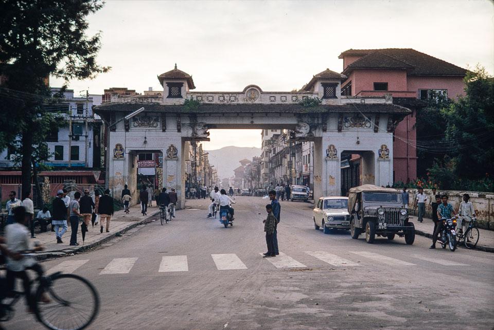 Old image of New road, Kathmandu during 1969