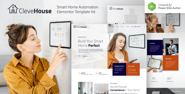 Best Smart Home Automation Elementor Template Kit
