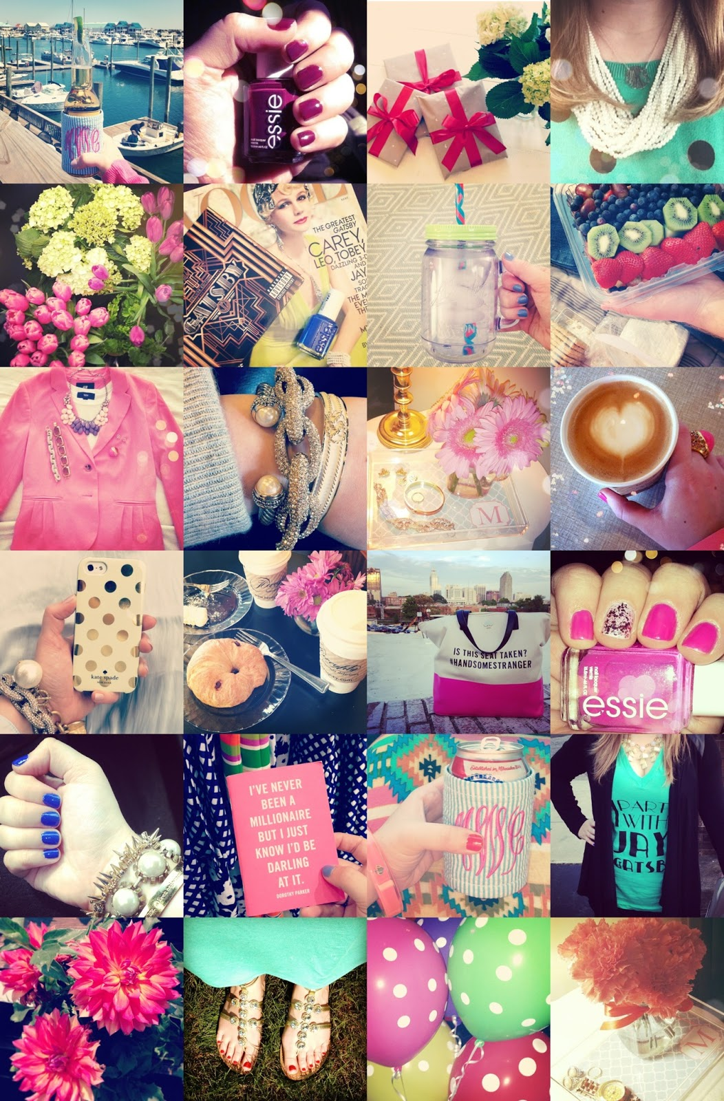 DIY Instagram Collage iPhone Wallpaper - The Monogrammed Life