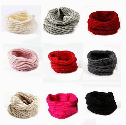 Women`s Wool Infinity Scarves.
