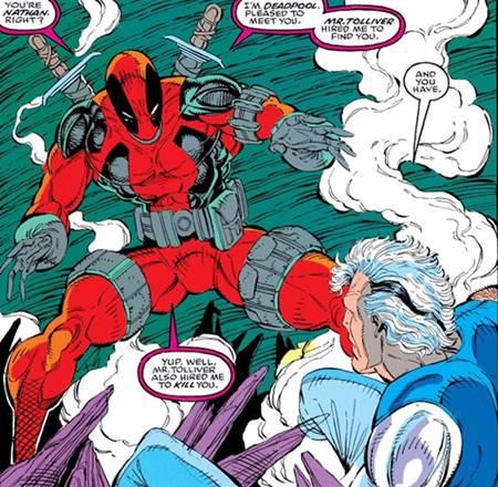 La primera vez que vimos a Deadpool en cómics, por Rob Liefeld