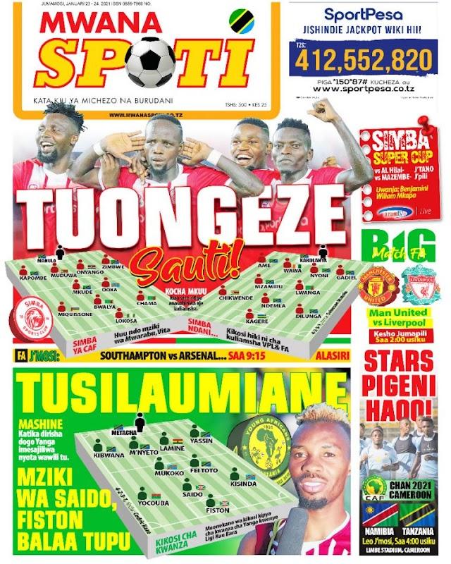 Habari kubwa za Magazeti ya Tanzania leo January 23, 2021
