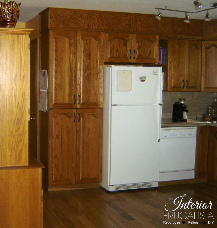 An affordable kitchen refresh and how to update kitchen cabinets without replacing them plus how to repurpose a small hutch into an island and pantry.