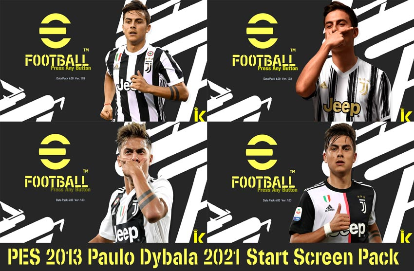 Paulo Dybala 2021 Start Screen Pack For PES 2013