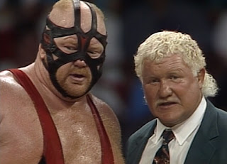 WCW Bash at the Beach 1994 - Big Van Vader (w/ Harley Race) faced The Guardian Angel (Big Boss Man)
