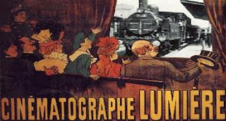 proiezione film locomotiva fratelli lumiere