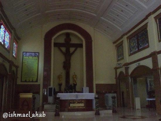 Altar of Holy Cross Church in Noveleta, Cavite