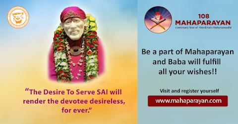 Desire To Serve - Sai Baba Idol Picture