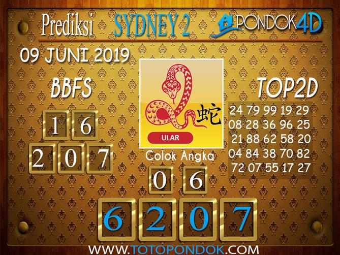 Prediksi Togel SYDNEY 2 PONDOK4D 09 JUNI 2019