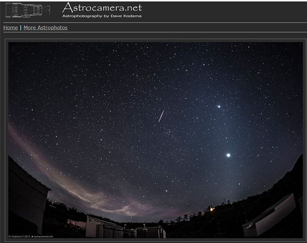 Photograph the Zodiacal light from Anza (Source: OCA Dave Kodama, 2015, www.astrocamera.net)