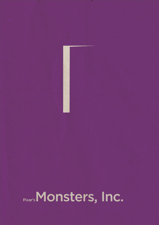 The geeky nerfherder movie poster art monsters inc 2001 for Art of minimal boris