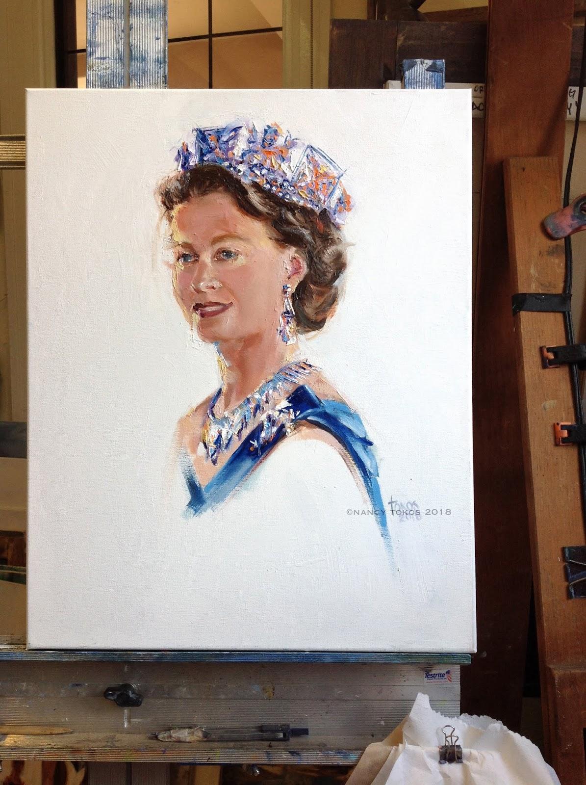 Portraits4all Tokos Fine Art Young Queen Elizabeth Ii