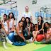Garota Web: em prova de eliminação, candidatas reproduzem poses de pilates para campanha publicitária