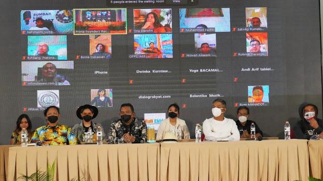 Suasana Press Conference OST Web Series Mimi Mintuno Tresno pada Minggu, 30 Mei 2021 di Yogyakarta.