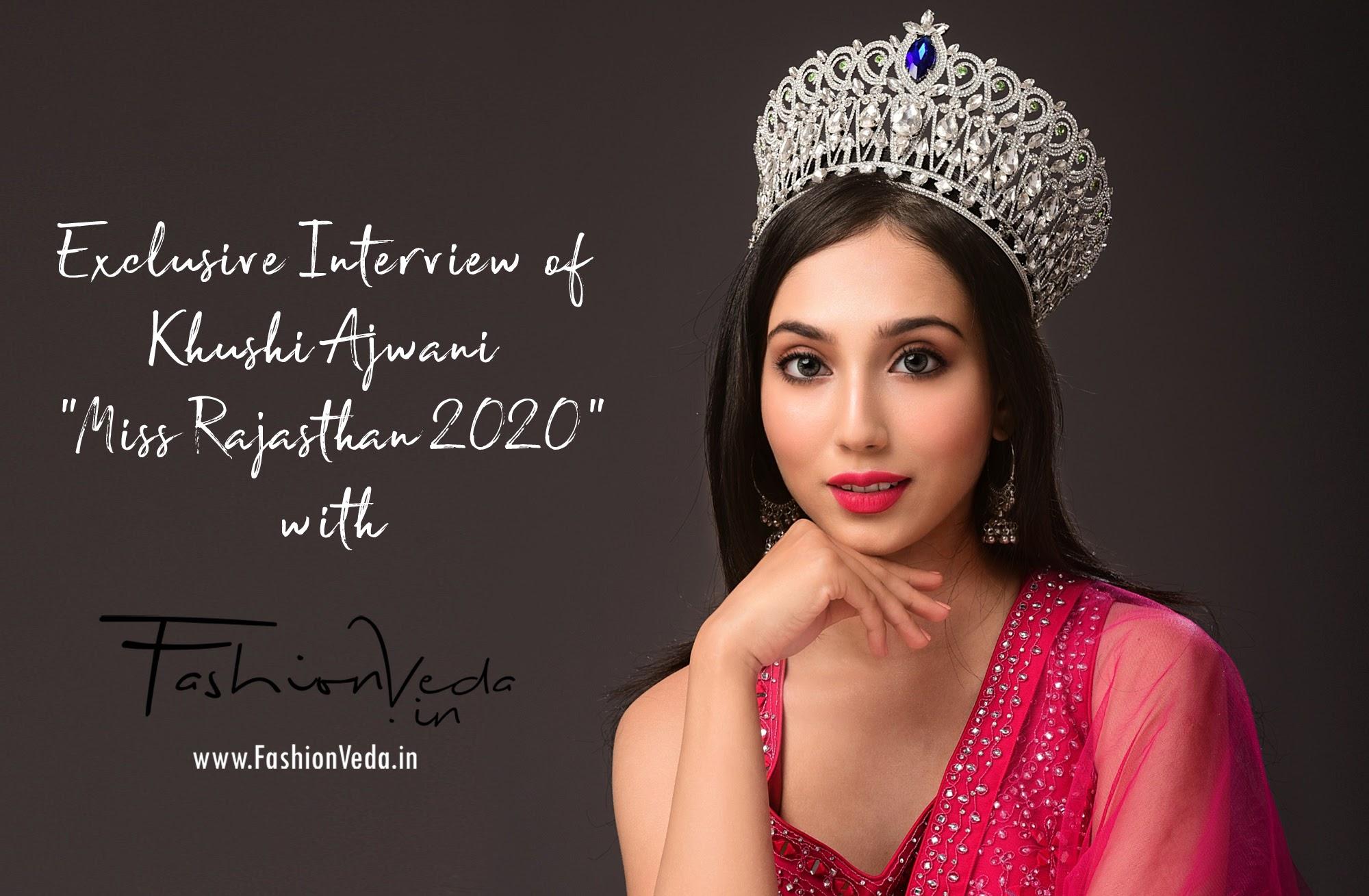 Khushi Ajwani Miss Rajasthan 2020 Jaipur Fashion Veda