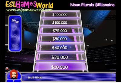 http://www.eslgamesworld.com/members/games/ClassroomGames/Billionaire/Plurals%20Billionair%20Game/index.html