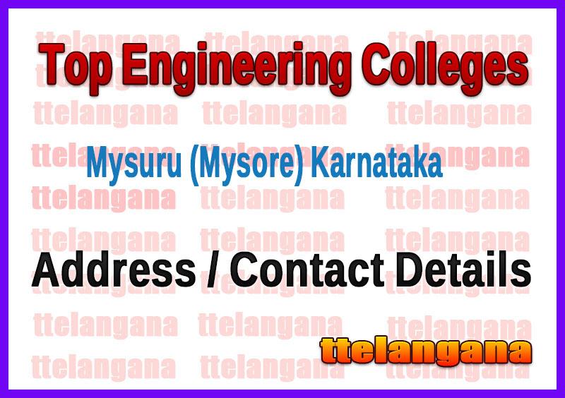 Top Engineering Colleges in Mysuru (Mysore) Karnataka