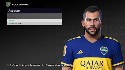 PES 2021 Faces Carlos Tevez by Diegotatoosparapes
