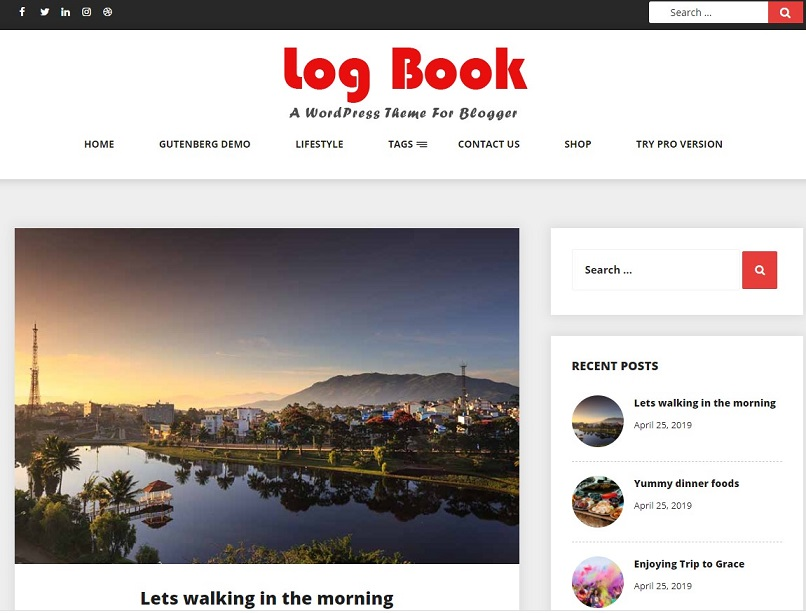 log book theme for affiliate marketing