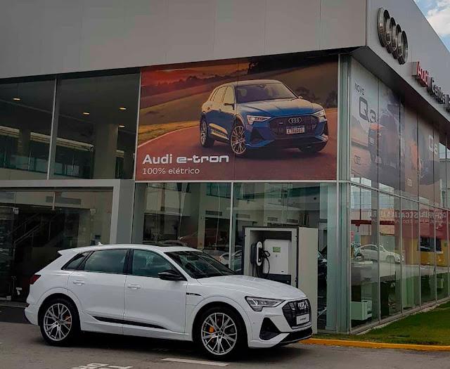 Concessionárias Audi ganham carregador de 24KW DC