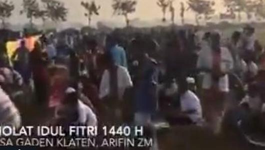 Diduga Khatib Bawakan Ceramah Bertema Politik, Jamaah Salat Idul Fitri di Klaten Membubarkan Diri