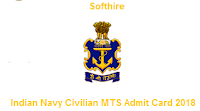 Indian Navy Civilian MTS Admit Card