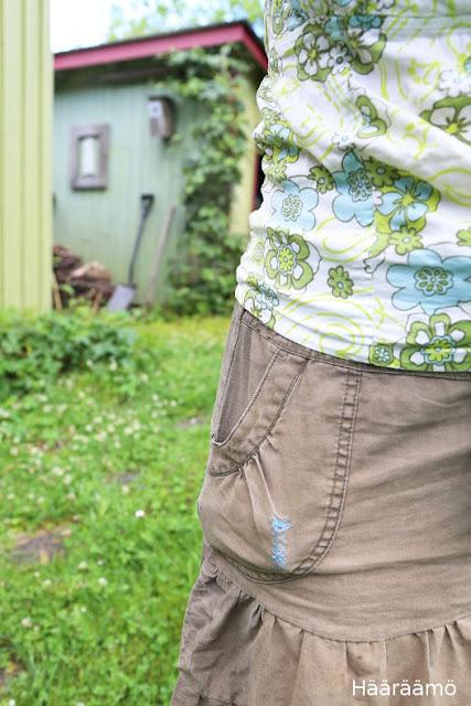 Parsimalla korjattu tasku