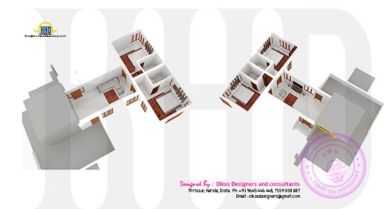 First floor isometric 3d plan