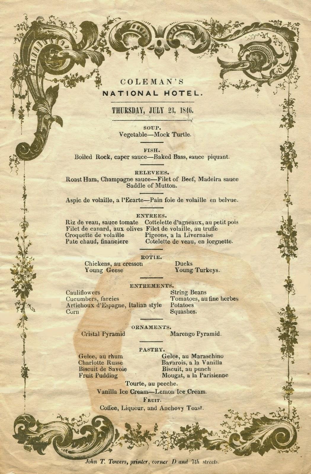 The American Menu: The Nativist Printer