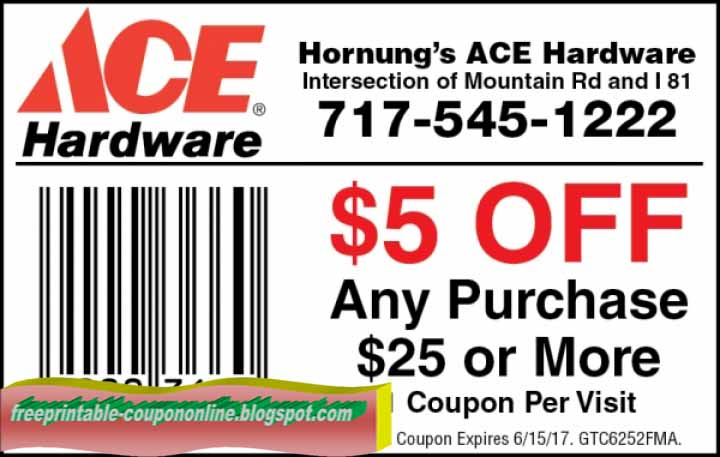 photo regarding Ace Hardware Printable Coupons identified as Ace components price reduction discount codes printable : Promo code entire body retail outlet