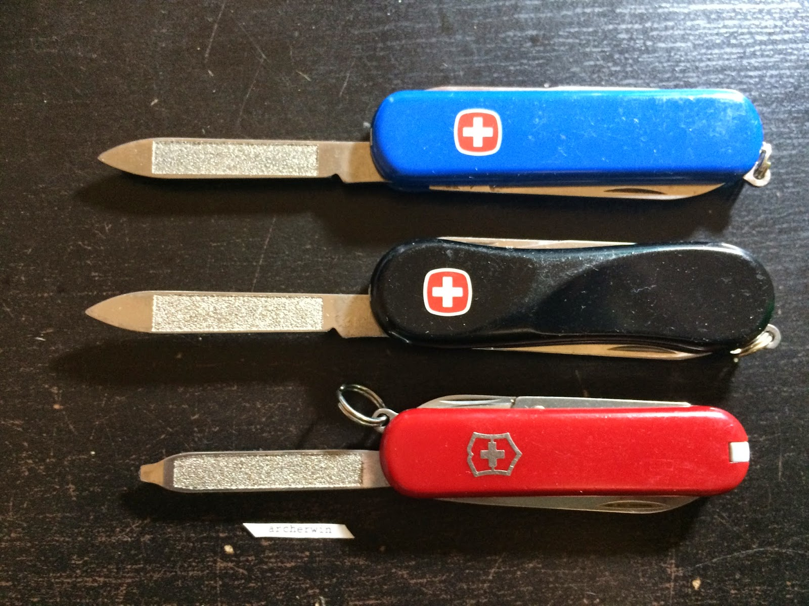 Archerwin S Swiss Army Knives Reference 58mm Vs 65mm