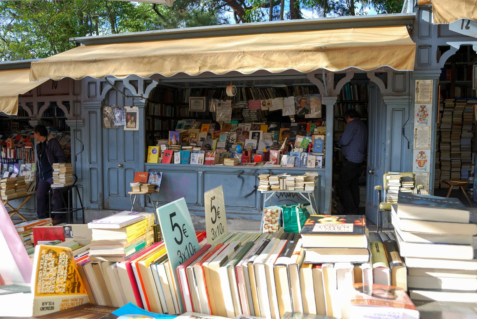 book fair market cuesta moyano madrid spain europe best beautiful bookshop cool bookstore